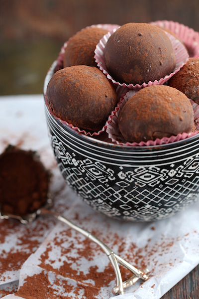 Champagne Truffles - dark chocolate